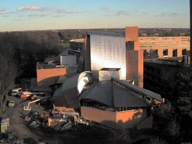 Научная библиотека Принстонского Университета. Фото в процессе строительства