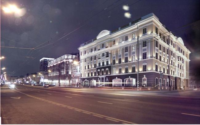 Реконструкция офисного здания под гостиничный комплекс на Большой Якиманке. Компания «Хоумленд Архитектура»