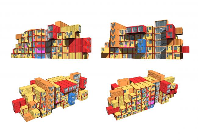 Общежитие для студентов «Трансформер». Дополнительные перспективные виды © Кореньков Николай