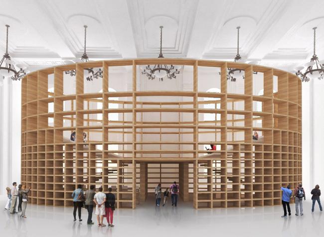 Многофункциональное пространство Государственного Исторического Музея «Форум». Главный вид © Citizenstudio