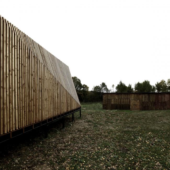 Летний павильон в селе Воздвиженское. Фасад © Khachaturian Architects Фото: Артур Хачатурян