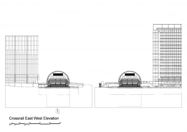 Станция Crossrail «Кэнери-Уорф» © Foster + Partners