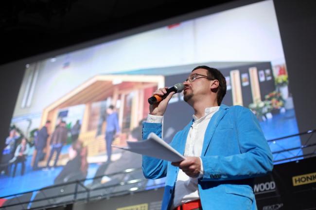 Куратор премии АрхиWOOD Николай Малинин на церемонии. 2015. Предоставлено АрхиWOOD