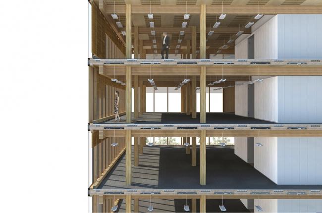Центр инновационного проектирования из дерева. Изображение: MGA
