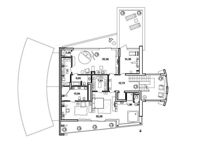 План 2 этажа © Архитектурное бюро Романа Леонидова