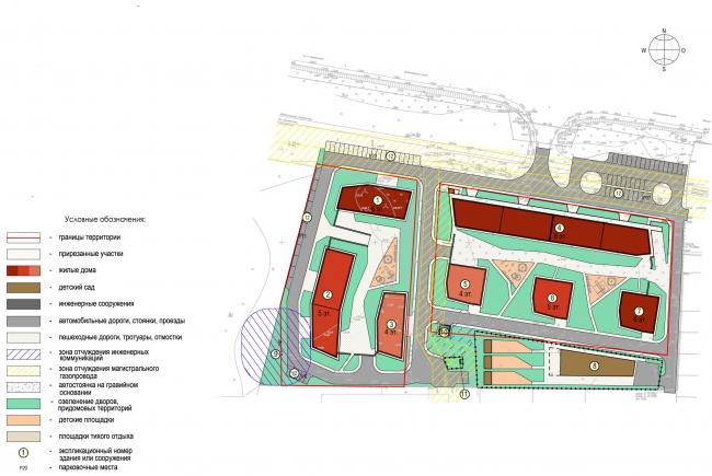 Жилой квартал «Опалиха-village». Генеральный план © Архитектуриум