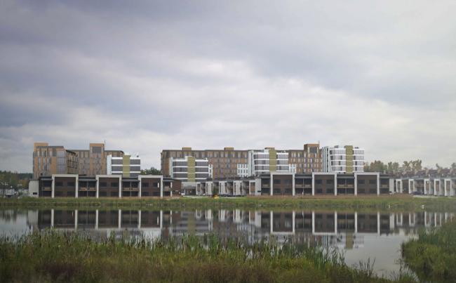 Жилой квартал «Опалиха-village». Проект, 2014 © Архитектуриум