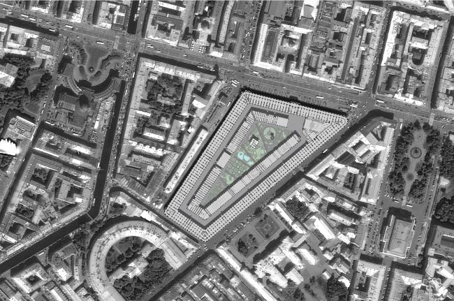 Ситуационный план. Проект регенерации Большого Гостиного Двора
