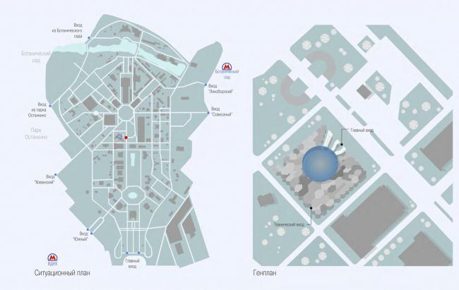 Ситуационный план. Генеральный план © Архитектурная мастерская Сергея Эстрина