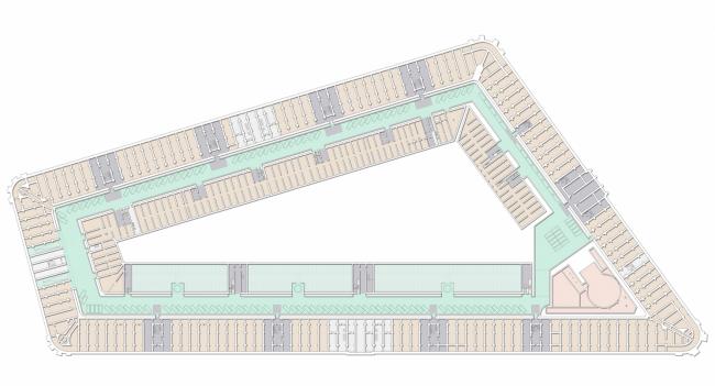 План -1 этажа. Проект регенерации Большого Гостиного Двора