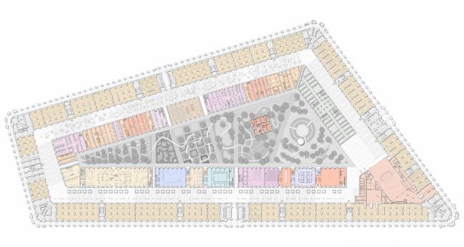 План 1 этажа. Проект регенерации Большого Гостиного Двора