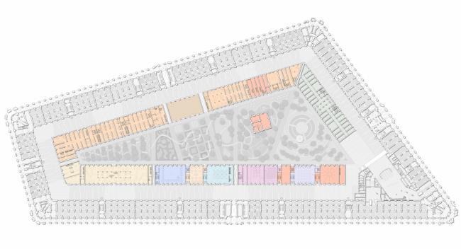 План 2 этажа. Проект регенерации Большого Гостиного Двора