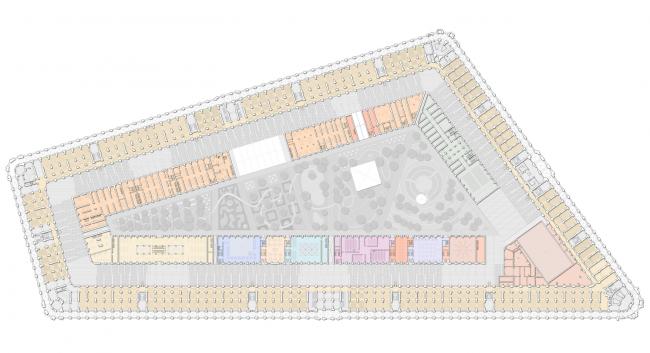 План 3 этажа.  Проект регенерации Большого Гостиного Двора