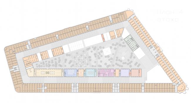 План 4 этажа.  Проект регенерации Большого Гостиного Двора