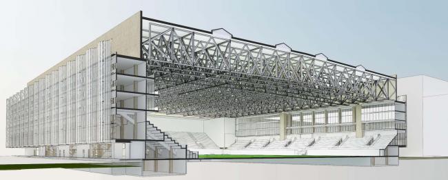 "Multifunctional complex of ""Spartak"" football stadium © GrandProjectCity"