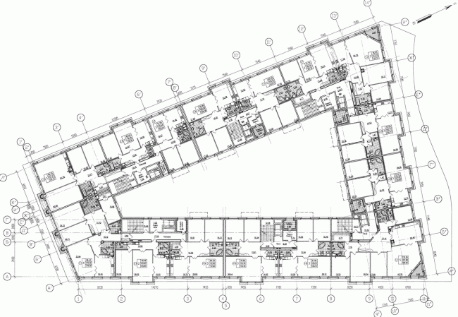 Plan of the third floor © Eugene Gerasimov and Partners