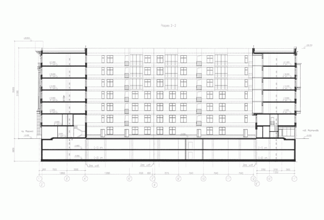 Section view © Eugene Gerasimov and Partners