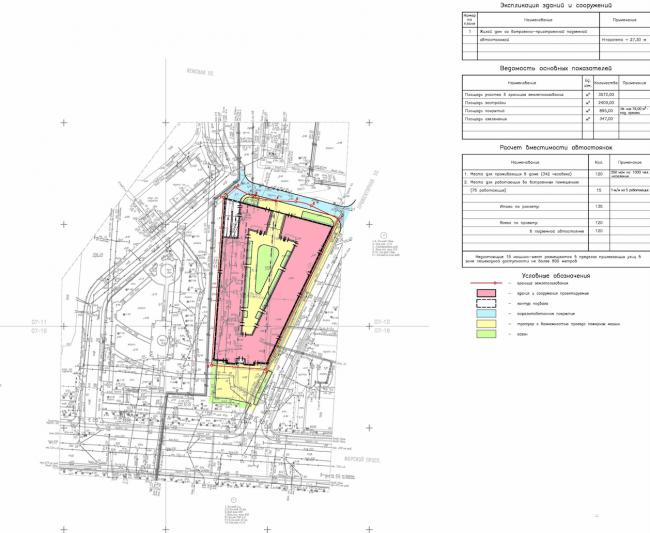 Planning organization of the land plot. Diagram © Eugene Gerasimov and Partners