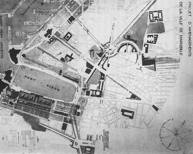 Проект реконструкции центра Марселя. 1942 г. Арх. Э.Бодуэн