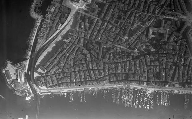 Средневековая планировка Старого города. Фото 1927 г.
