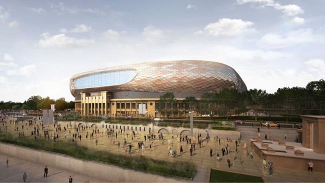Стадион «Динамо» в рамках проекта «ВТБ Арена Парк». Проектировщик: SPEECH. Источник: www.GRAPHISOFT.ru