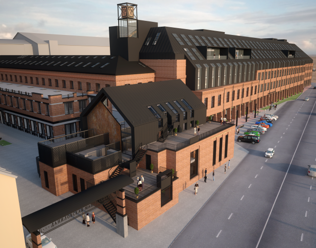 "Reconstruction project of ""Danilovskaya Manufactura"" Factory into a LOFT business center © City-Arch"