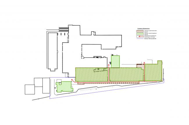 Реконструкция фабрики «Даниловская мануфактура» под деловой центр в стиле LOFT. План корпуса © Сити-Арх