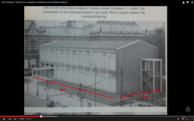 Корпус Сандберга при Амстердамском городском музее, 1954-2004. Слайд из лекции Колхаса в Стокгольме, март 2013