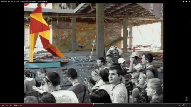 Интерьер Музея соременного искусства «Гараж», проект. Слайд из лекции Колхаса в Стокгольме, март 2013