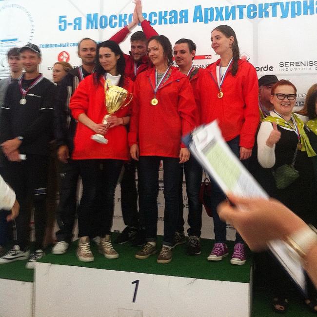 Команда бюро UNK project–победители Второго Чемпионата Москвы среди архитектурных студий