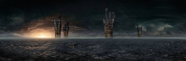 The project of Hyperion skyscraper © Panacom