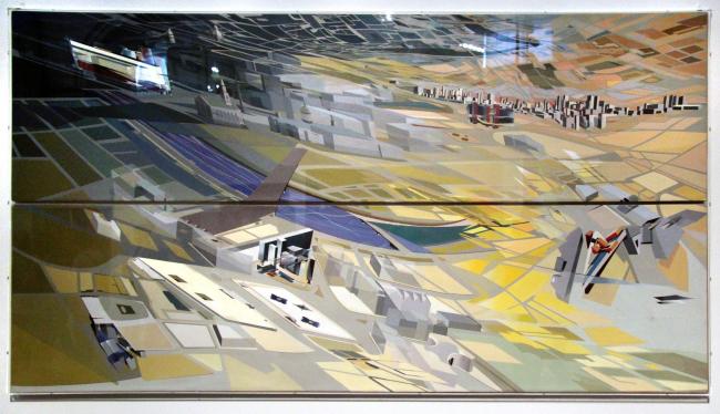 Картина Захи Хадид: застройка Трафальгарской площади. 1985. Фотография © Павел Олигорский, archi.ru