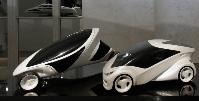 Модели автомобилей: Z-car I, Z-car II. Zaha Hadid Architects. Фотография © Павел Олигорский, archi.ru