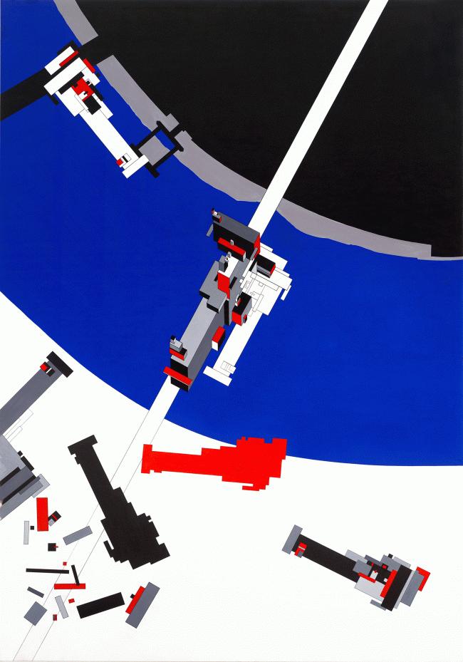 Заха Хадид. Тектоник Малевича, 1977 / 2015. Предоставлено Zaha Hadid Architects