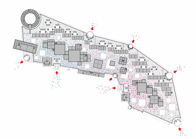 Проект Парламентского центра Российской Федерации. Схема рапределения потоков посетителей