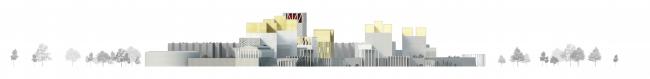 Проект Парламентского центра Российской Федерации. Фасад