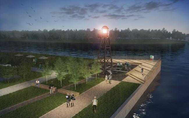 Концепция реорганизации набережной «Твоя набережная Ривер Парк» © WOWhaus