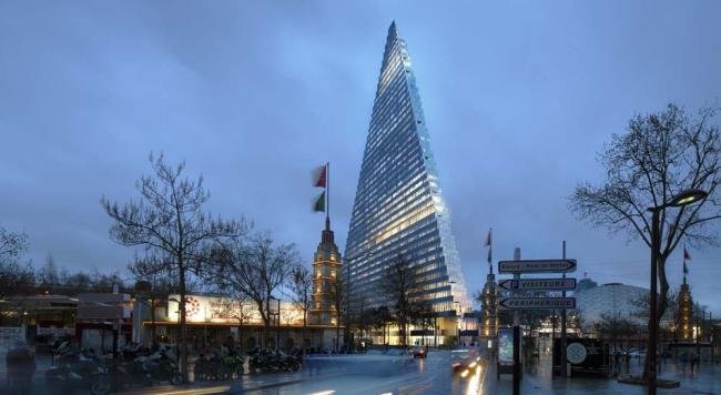Башня Triangle. 2-я версия © Unibail-Rodamco