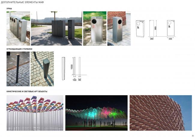 Концепция реорганизации набережной «Ривер Парк». Малые архитектурные нормы © WOWhaus