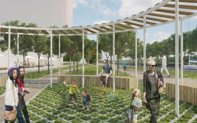 Концепция реорганизации набережной «Ривер Парк» © WOWhaus
