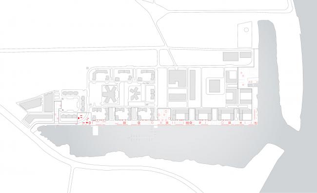 Концепция реорганизации набережной «Ривер Парк». План © WOWhaus