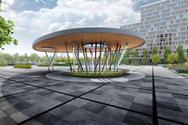 Концепция благоустройства набережной Нагатинского затона «Ривер Парк». Конкурсный проект, 2015 © T+T architects