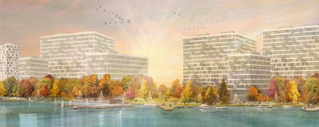 Концепция реорганизации набережной «Ривер Парк» © Land Milano