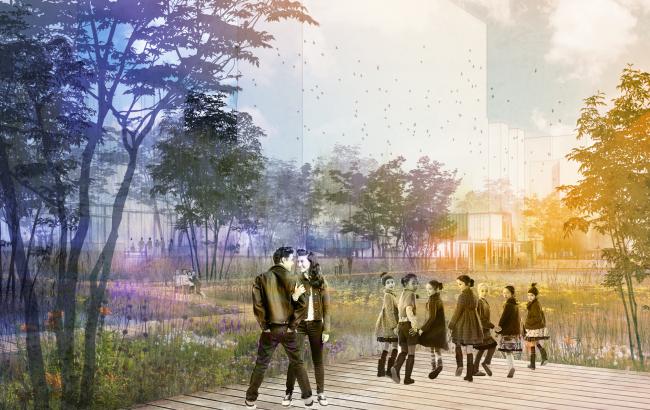 Концепция реорганизации набережной «Ривер Парк» © команда МГСУ