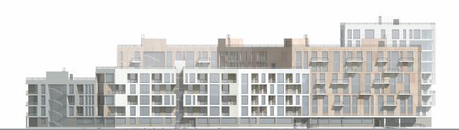 Проект многоквартирного жилого дома в микрорайоне «Лихоборка», Головинский район, г. Москва. Автор: Ася Зарипова, студент 3 группы 4 курса