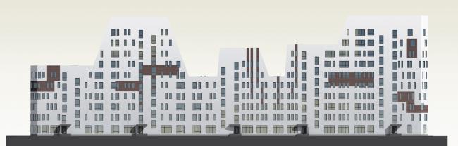 Проект многоквартирного жилого дома для района Красного перекопа в г. Ярославле. Автор: Станислав Красноперов, студент 2 группы 4 курса