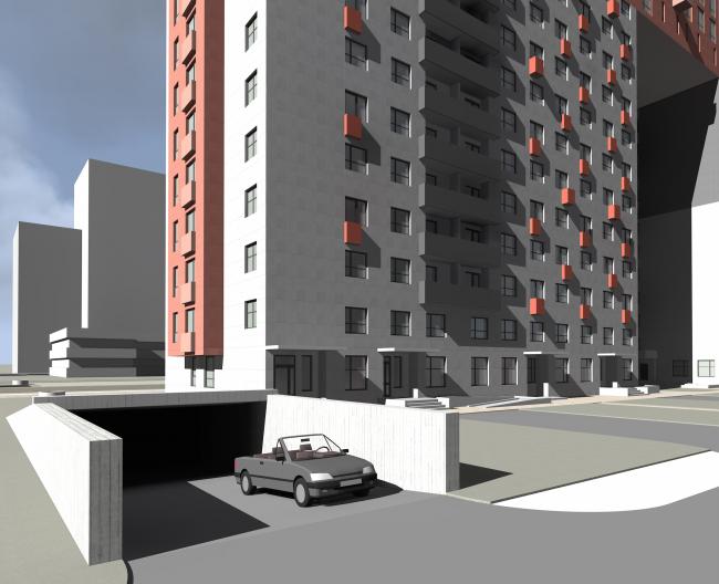 Проект многоквартирного жилого дома в районе СЗАО Митино. Автор: Константин Пастухов, студент 2 группы 4 курса