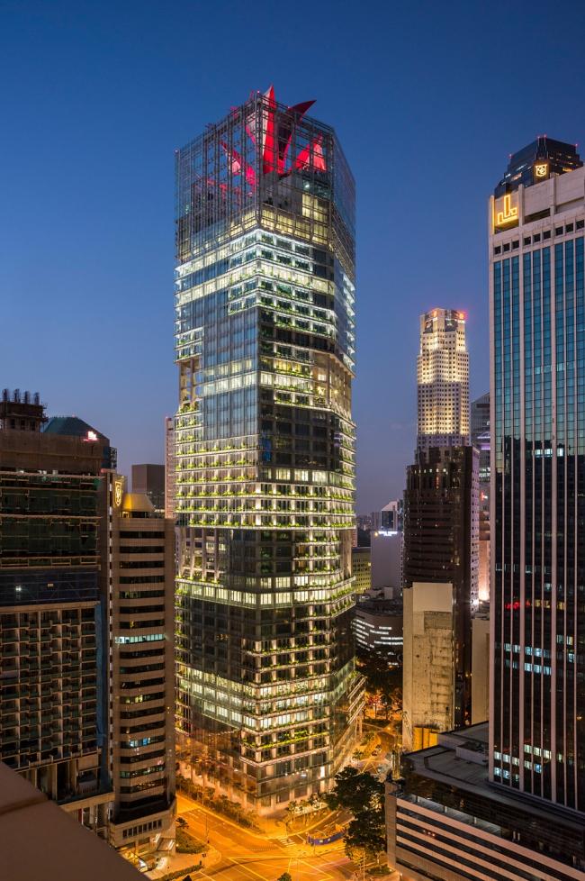 Офисное здание CapitaGreen в Сингапуре  © CapitaLand Limited