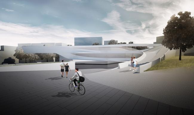 Конкурсный проект «Музей Свободы / Музей Майдана» © Dmytro Aranchii Architects