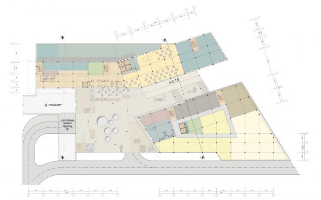 Бизнес-центр и гостиница у аэропорта «Пулково». План 1 этажа © А.Лен